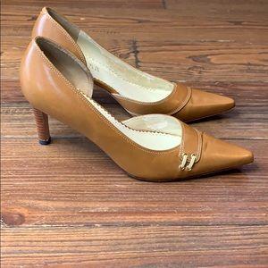 Ralph Lauren camel leather heel 6